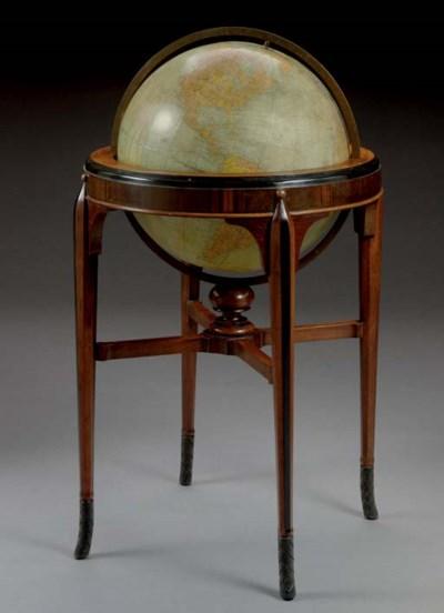An Art Deco floor globe