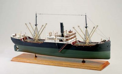 A ship model of a Tramp Steame