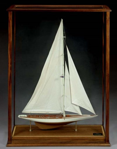 A rigged model of the 1934 Ame