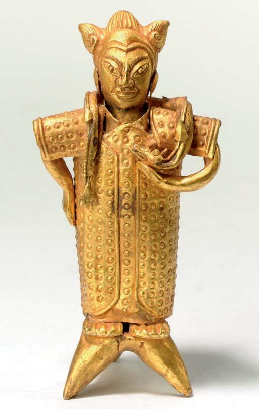 A CHINESE LIAO STYLE GOLD ZODI