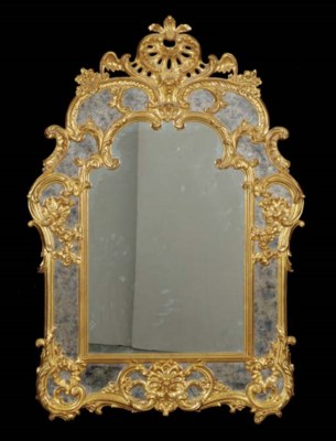 A LOUIS XV STYLE GILTWOOD OVER