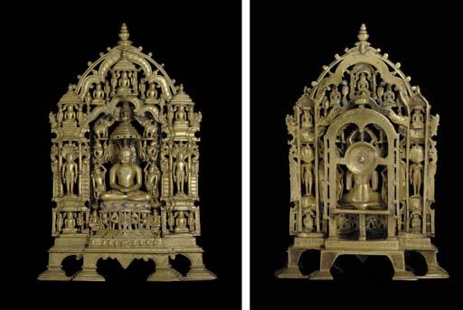 A bronze Jain Shrine