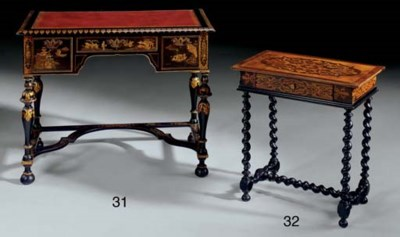 A MID-VICTORIAN BLACK AND GILT
