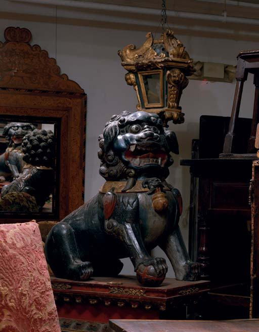 A PAIR OF CHINESE POLYCHROME-D