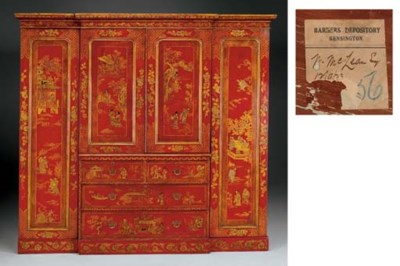 A VICTORIAN SCARLET AND GILT-J
