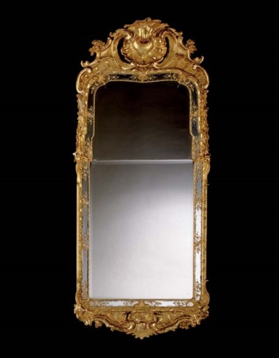 A SWEDISH GILTWOOD PIER GLASS
