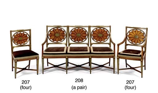 A PAIR OF RUSSIAN ARMCHAIRS AN