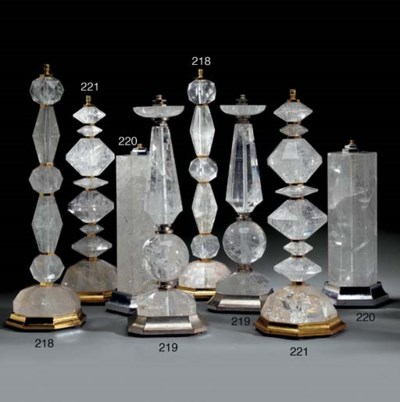A PAIR OF ROCK CRYSTAL LAMPS