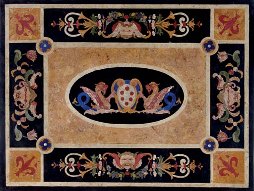 AN ITALIAN SCAGLIOLA TABLE
