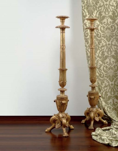 A PAIR OF ITALIAN GILTWOOD TOR