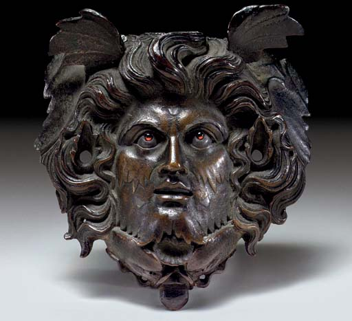 A ROMAN BRONZE APPLIQUE