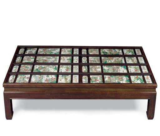 A CHINESE HARDWOOD LOW TABLE I