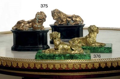 A PAIR OF CONTINENTAL GILT-MET