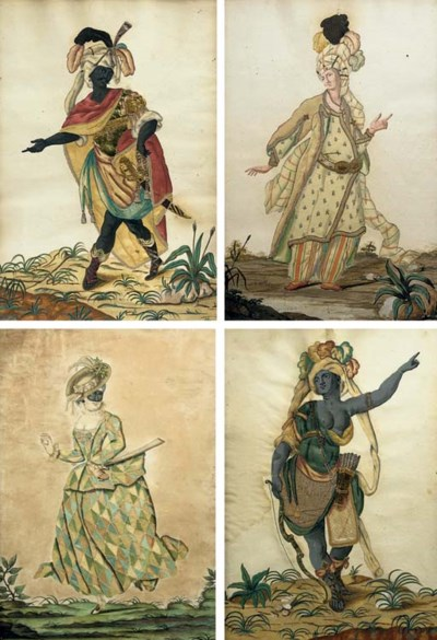 A SET OF FOUR ITALIAN PAINTED