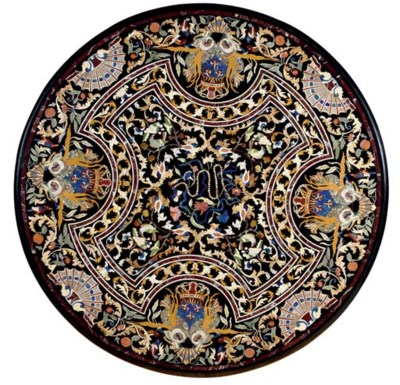 A PIETRA DURA AND MOTHER-OF-PE