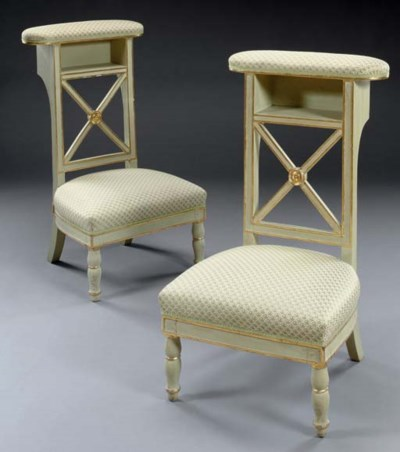 A PAIR OF RESTAURATION GREY-PA