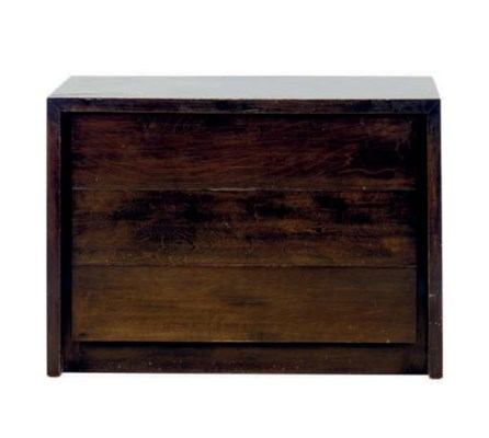 A WALNUT CHEST OF DRAWERS,