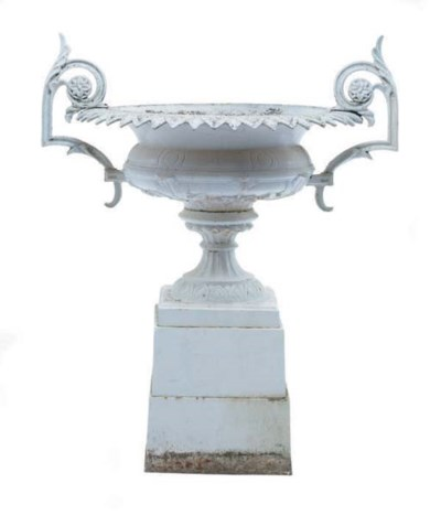 A VICTORIAN WHITE PAINTED CAST