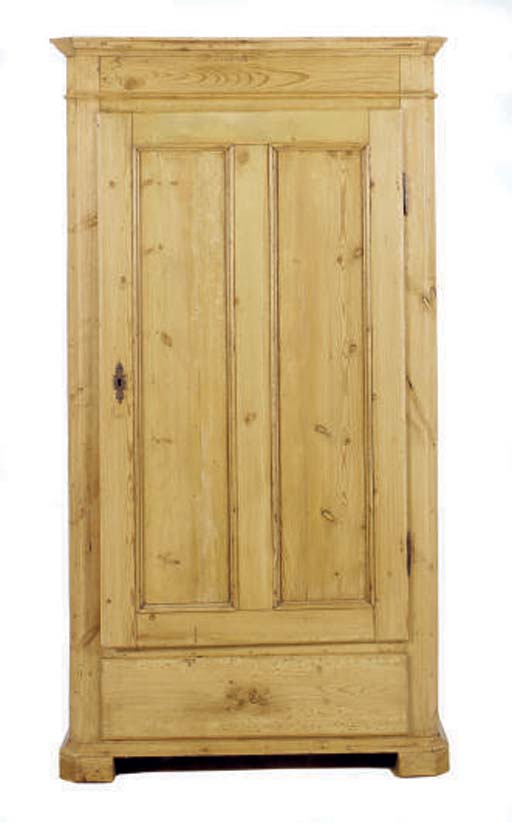 A COUNTRY PINE CABINET,