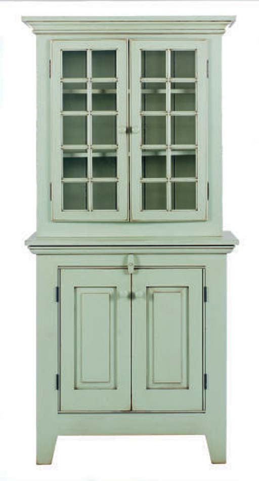A GREEN PAINTED CREOLE STEP BA