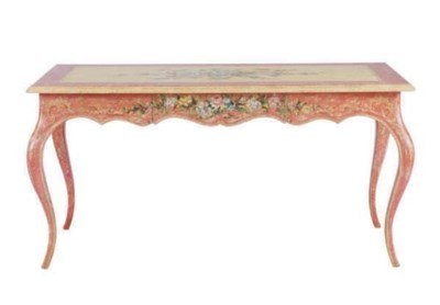 A FRENCH POLYCHROME PAINTED CE