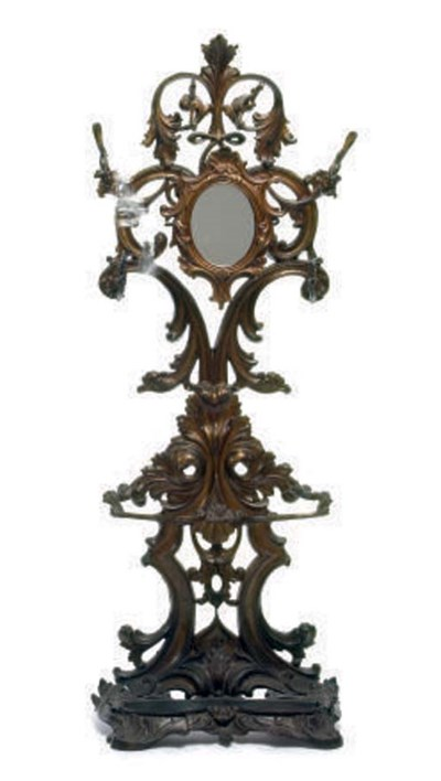 A VICTORIAN WROUGHT IRON PARCE