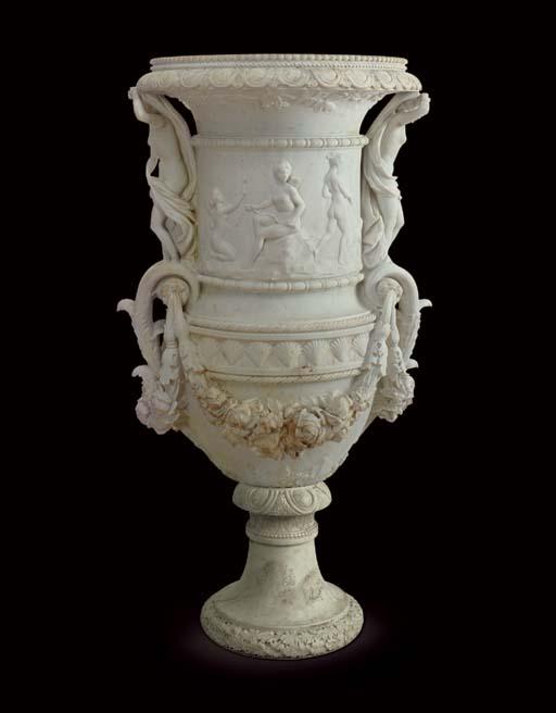 A large Italian marble vase