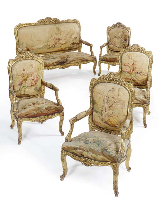 A Louis XV style giltwood and