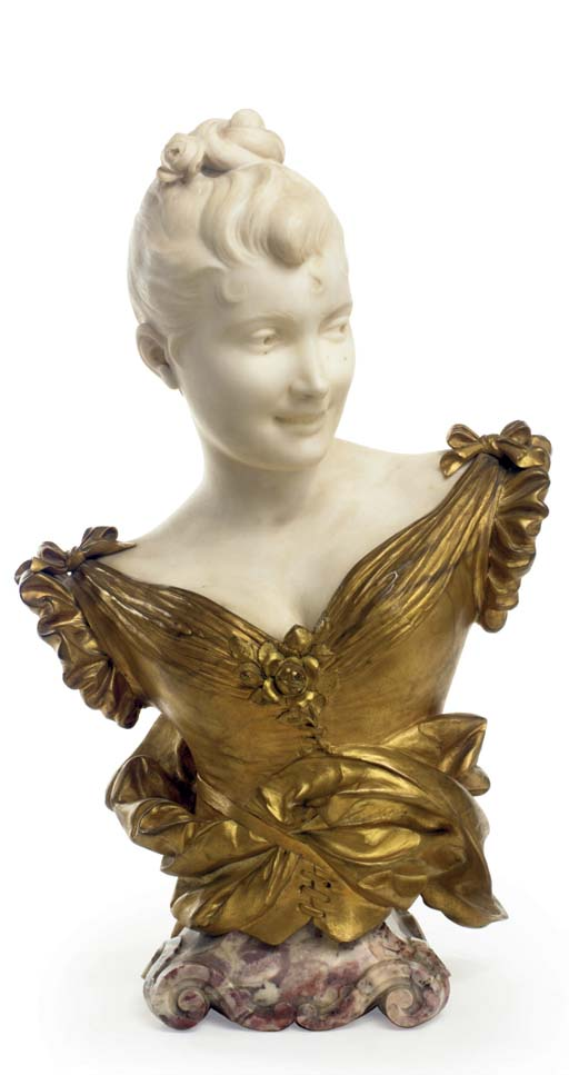 A French gilt-bronze and white