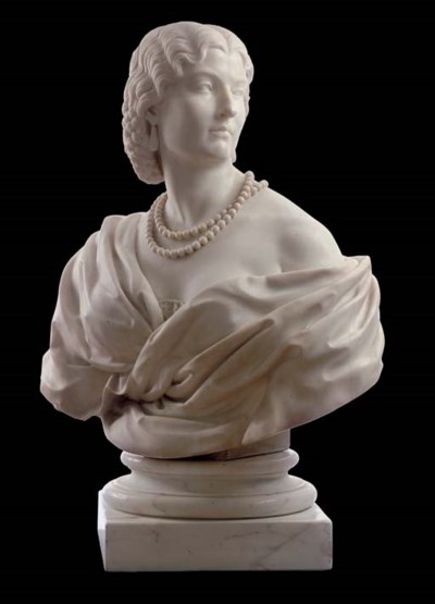A French marble bust entitled