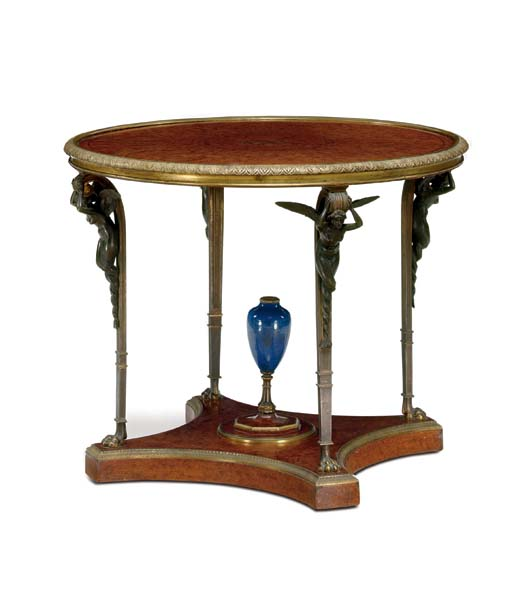 An Empire style ormolu- and pa