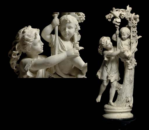 An Italian marble group of chi