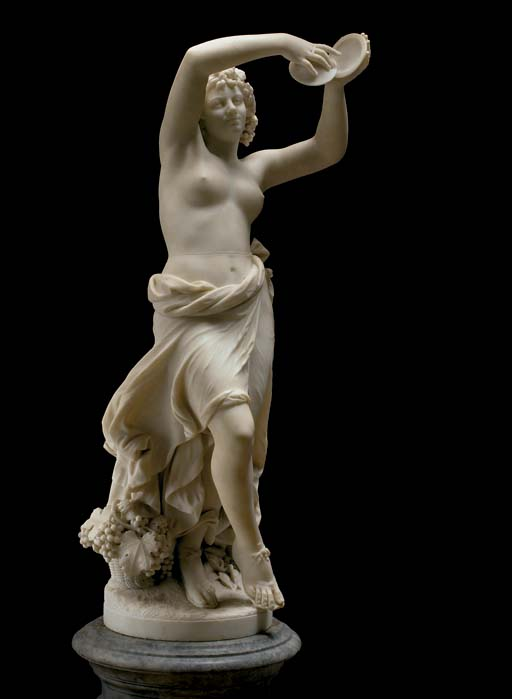 A German white marble figure o