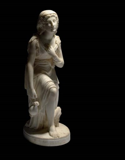 AN ENGLISH MARBLE FIGURE OF NA