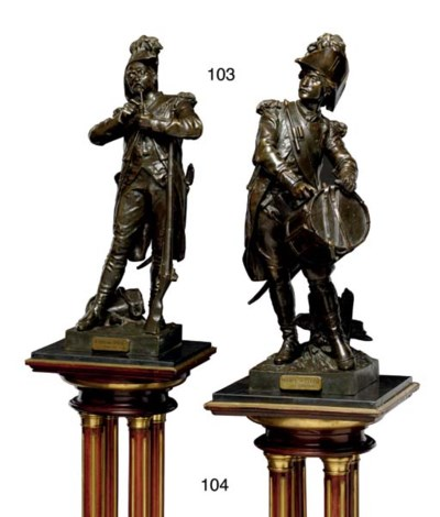 A PAIR OF FRENCH BRASS-MOUNTED