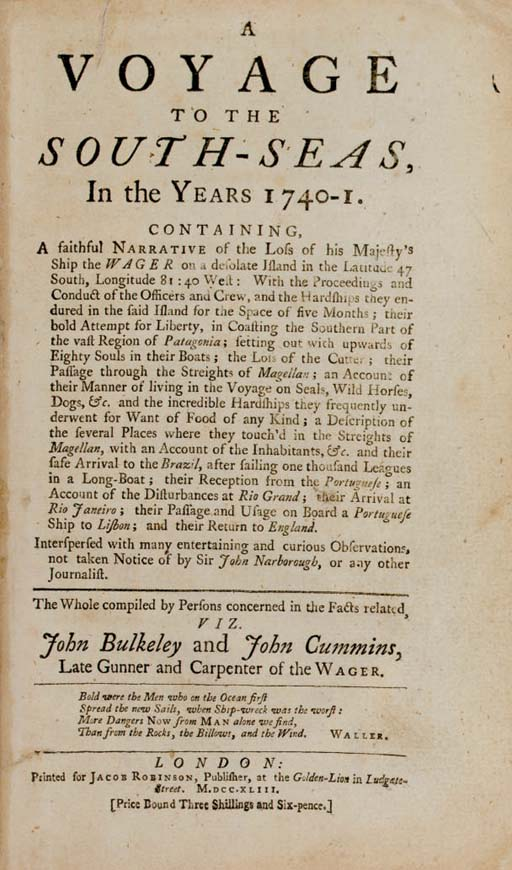 BULKELEY, John (fl. 1740) and