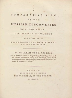 COXE, William. A Comparative V