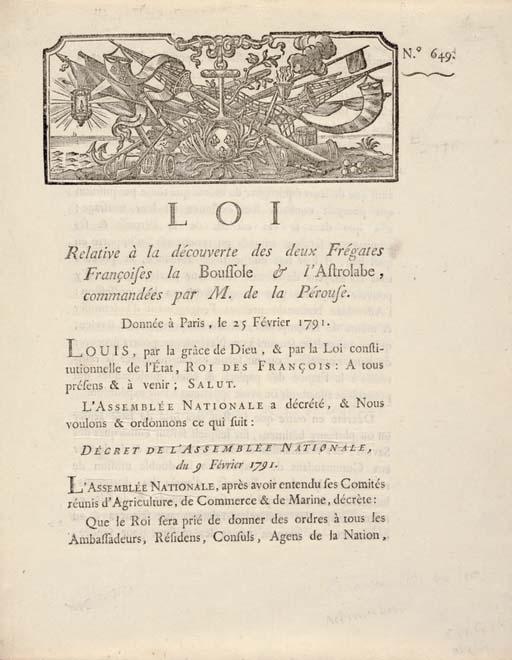 [LA PÉROUSE, Jean François de