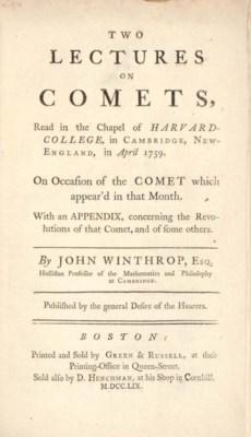 WINTHROP, John (1714-1779). Tw