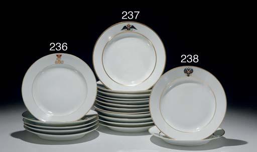 Set of Twelve Porcelain Plates
