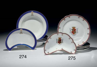 A Set of Porcelain  Plates fro