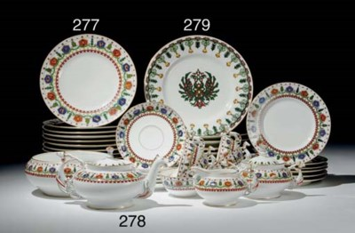 A Set of Eight Porcelain Plate