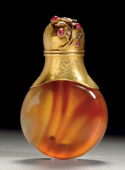 A Jeweled Gold-Mounted Agate S