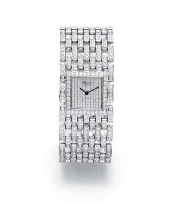 A DIAMOND WRISTWATCH, BY CHOPA