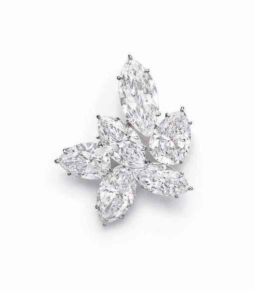 A DIAMOND BROOCH, BY HARRY WIN