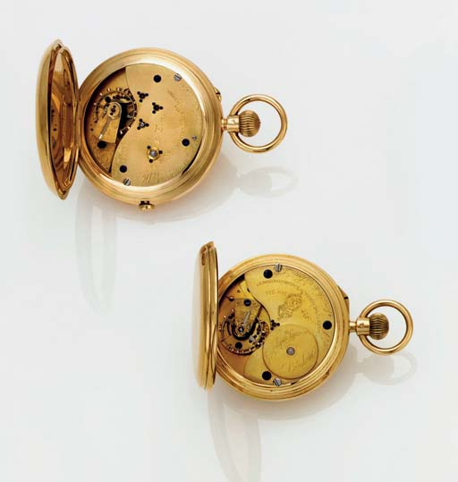 SMITH AND SON. AN 18K GOLD OPE