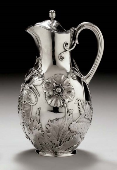 A DANISH SILVER WATER PITCHER