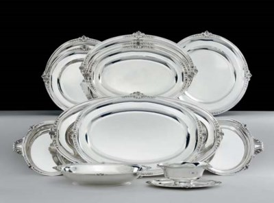 A FRENCH SILVER DINNER SERVICE
