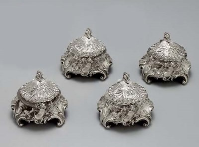 A SET OF FOUR FRENCH SILVER SA
