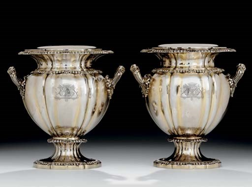 A PAIR OF FRENCH SILVER-GILT W